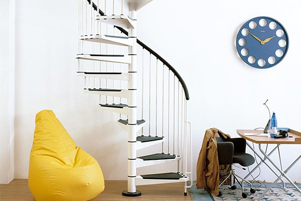 Civik Spiral Stair White