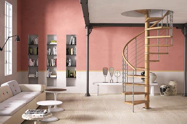 Genius Spiral Stair 050a Satin Stainless Steel