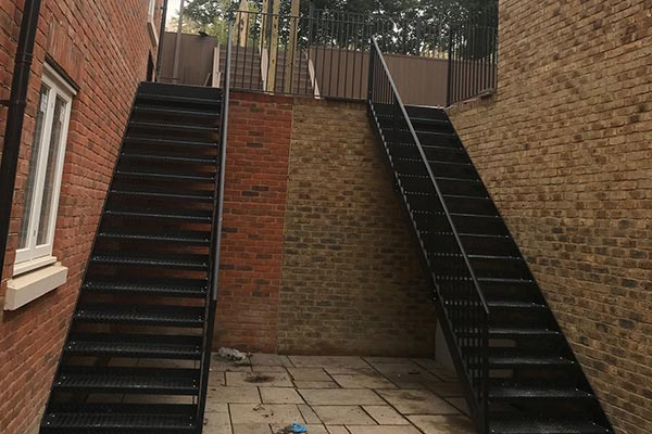 External-straight-staircase