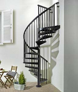 Painted Sy Outdoor Spiral Staircase