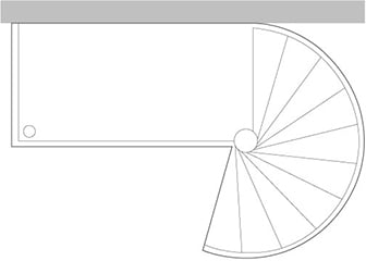 Outdoor Supported Landing for Large Diameter Spiral