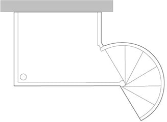 Outdoor Supported Landing for Small Diameter Spiral