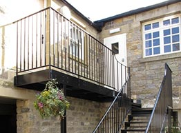Outdoor Fabricated Balcony Painted