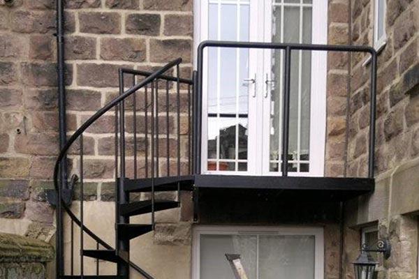 Fabricated Staircase Balcony Glazed