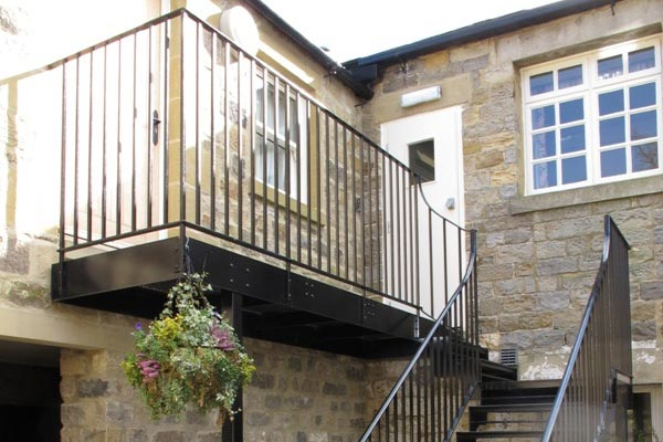 Fabricated Staircase Balcony Painted