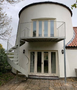 Outdoor Spiral with Balcony